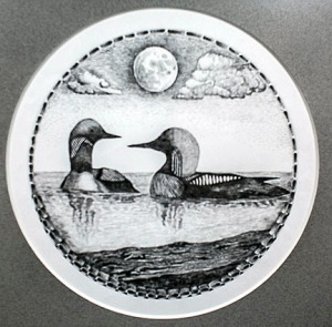All of Ridge's drawings are done in the round, emulating the feel of looking out a porthole.