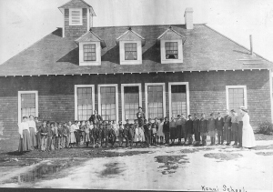 Photo courtesy of the Anchorage Museum of History and Art, Crary-Henderson Collection. The American Territorial School replaced the Russian School and became the first U.S. government-run public school in Kenai.