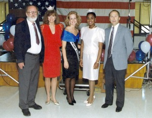 Reeder, left, with Miss Alaska, Miss Soldotna (Reeder's stepdaughter, Rhonda) and Miss U.S.A.