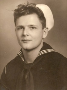 Reeder in his Navy uniform, in 1944. He served during WWII.