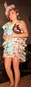 Clara LaRock, of Cooper Landing, won last year's Cooper Landing Recycled Fashion Show with a dress made of newspaper. This year she said she will be attempting something more simple, but still unique.