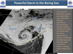 "This graphic posted on the NWSA Facebook page Oct. 24 warning of an intense approaching storm, made the rounds on Facebook, garnering 558 ""shares"" and 202 ""likes."""