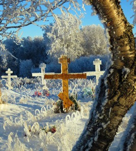 Russian Orthodox heritage is something the Dillingham area and Kenai Peninsula have in common. Above is a cemetery with Russian Orthodox crosses in Dillingham. Below is the Russian Orthodox Church in Kenai.