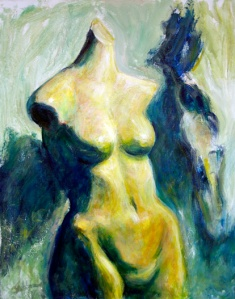 """Watching Godiva,"" acrylic, by Sherri Sather."