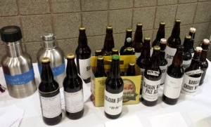 Photos courtesy of Tracie Howard. Beers await judging in the homebrew competition.
