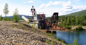 Photos courtesy of Jane Haigh. Chatanika Gold Dredge No. 3, outside of Fairbanks, is seen before being scorched in a fire in August 2013. The dredge is co-owned by Jane Haigh, of Soldotna, who bought it to try and preserve this 70-year-old, 300-foot piece of gold mining history.