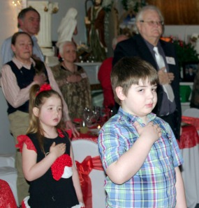 James Jr. and Mya Bearup helped their mom, Fawn, and their grandparents, Tom and Adele Bearup, in running the dinner for veterans. Their dad, James Bearup, is Tom and Adele's son, who died in April.