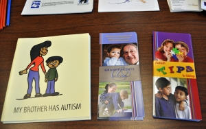 There were dozens of educational booths set up at the event by local agencies, providing information on autism resources on the Kenai Peninsula and around the state.