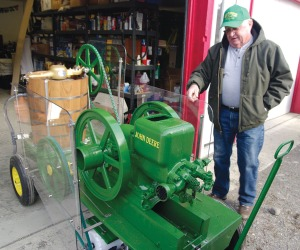 Photo by Jenny Neyman, Redoubt Reporter. Ken Laing will be making the rounds of summer fairs and festivals with his new, green, ice cream machine.