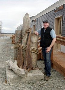 Photos by Jenny Neyman, Redoubt Reporter. Ron Hyde, CEO of PRL Logistics, is seen outside the old cannery administration building at the Kenai Landing site that he's renovated to serve as the office for the new Kenai branch of his operation.