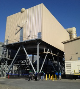 Photo by Hanna Heimbuch, Homer Tribune. HEA's Nikiski Combined Cycle Plant began operating in January and was celebrated with a ribbon-cutting Thursday.