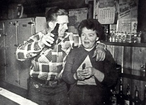 Photos courtesy of Mona Painter. Pat and Helen in the bar at Gwin's Lodge in 1952.