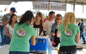 Photo courtesy of Elaine Howell. Kenai River Beer Festival-goers last year sample the offerings from St. Elias Brewing. This year's festival is Saturday at the Soldotna Regional Sports Complex.