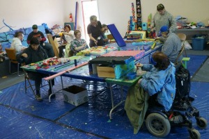 Photo courtesy of Hope Community Resources. An art residency program held at Hope Community Resources in conjunction with Frontier Community Services and Peninsula Community Health Services.