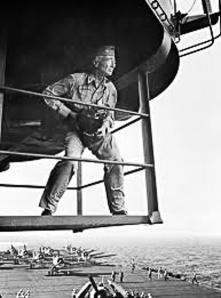 Illustration 1 — Edward Steicher aboard the USS Lexington, November 1943.