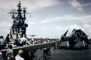 Illustration 2 —USS Lexington (CV16) flight deck, 1943.