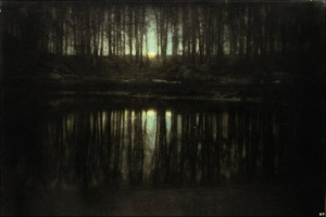 Illustration 7 — The Pond-Moonlight.