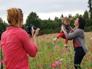 Kenai wildflowers baby photog mom