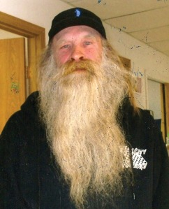 Photo courtesy of Jerry Terp. Jerry Terp is ready to go the distance in beard-growing competitions.