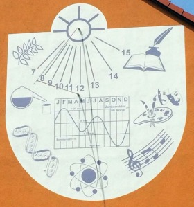 Photo courtesy of Andy Veh. Sundials used to be the method for calculating time of day.