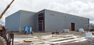 Photo courtesy of Elaine Howell. Anchorage Brewing Co.'s new facility is under construction in Anchorage.