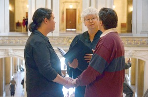 Photo courtesy of Tammie Willis and Isabelle Boutin Tammie Willis and Isabelle Boutin, of Sterling, were married in San Francisco earlier this year. Same-sex marriage wasn't yet legal in Alaska, so they chose to be married in California.