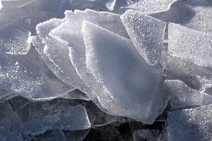 Images courtesy of Joe Kashi. Illustration 1 is shattered ice on Skilak Lake.