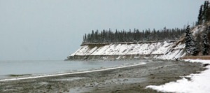 The tide reached a high of 24.1 feet at the Kenai River mouth on Wednesday.