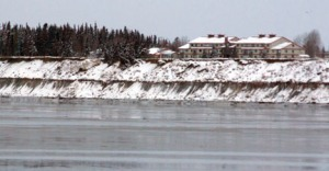 The Kenai Senior Citizens Center currently sits only about 125 feet from the eroding bluff face in Kenai. As little as an extra high tide can exaserbate the erosion process.