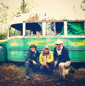 "Photo courtesy of Tyler Johnson. The Alaskans team, from left, Vern Tejas, Tyler Johnson and Marty Raney, traveled to the infamous bus from ""Into the Wild,"" where Chris McCandless lost his life, in an episode of ""Ultimate Survival Alaska."" Episodes in Season Three air Sundays on the National Geographic channel."