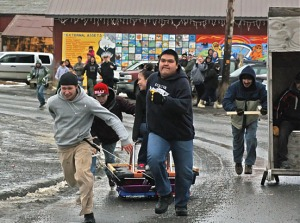 Photos courtesy of Clark Fair. Dillingham's Beaver Roundup includes games (including the outhouse race seen here), music, food, fireworks — all the festivities needed to brighten the turn from winter to spring.