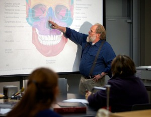 Wartinbee says he hasn't tired of teaching, just is looking for more time for other pursuits. He's been teaching 80 students a year the last few years at KPC, and has taught anatomy for 40 years.
