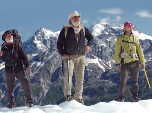 "Tyler Johnson, at right, is on the Alaskans team with veteran mountaineers Marty Raney, center, who also has been on seasons one and two of ""Ultimate Survival Alaska,"" and newcomer Vern Tejas."
