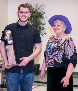 Haag was declared the winner and awarded a trophy by Linda Swarner, executive director of the Kenai Peninsula Food Bank.