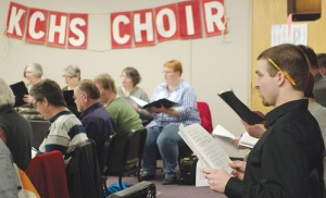 The choir has high school students to retirees, and music teachers to people who mainly just sing in the car or shower.