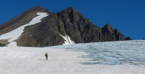 Yvonne Leutwyler approaches the final climb to the summit of Mount Ascension in July 2013.