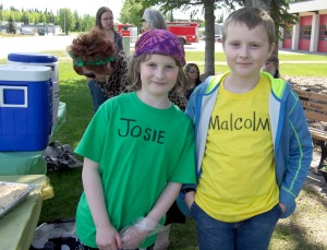 Josie and Malcolm Fadden ran their brother-and-sister stand in front of the Kenai Fire Department in Kenai.  Malcolm decided he was the boss, while Josie wasn't decided on whether or not she'd recognize that chain of command.