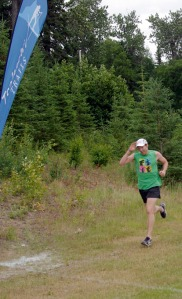 Tyler Dinnan starts his second lap of the Salmon Run Series course July 8. The course changes each of the five weeks.