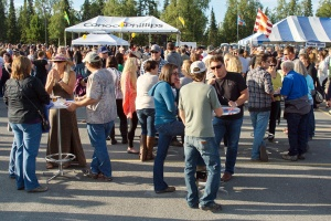 Photos courtesy of Elaine Howell. The crowd enjoys last year's Kenai Peninsula Beer Festival.