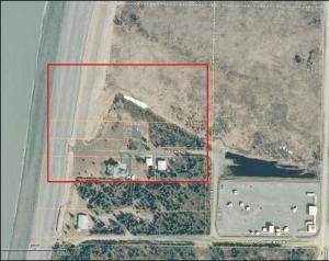Imagery from Kenai Peninsula Borough parcel viewer. The city of Kenai will purchase the highlighted seven lots in order to build a new access road to the south beach of the Kenai River.
