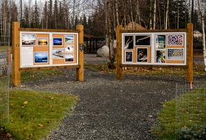 Photo courtesy of Joe Kashi, ARTSpace, Inc. The new Art Park installation at Soldotna Creek Park opened with a ribbon cutting Sunday.