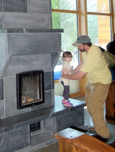 The high-efficiency fireplace in the new refuge visitors center is one area for which volunteers are sought. Members of a new Coffee Conservation Club will help keep firewood stocked, as well as enjoy a monthly book club meeting around the fire.