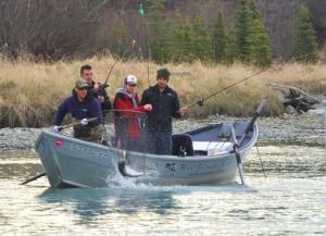 Redoubt Reporter file photo by Joseph Robertia. House Bill 41 would reinstate licensing and log books requirements for all fishing guides in Alaska — including those on the Kenai and Kasilof rivers — as  seen here guiding for kings.  The previous program sunsetted in 2014.