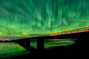 Photo courtesy of Mark Pierson, www.markpiersonphotography.com. Kenai photographer Mark Pierson captured this image of the aurora over the Kenai River and Warren Ames Memorial Bridge earlier this year. Though Monday night's active aurora was shrouded from view by clouds on the Kenai Peninsula, this year overall will continue to be active for the aurora.