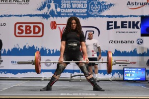 Photo courtesy of courtesy of the International Powerlifting Federation. Robin Johnson, a junior at Soldotna High School, traveled in June to Salo, Finland, to compete in the International Powerlifting Federation RAW Classic Powerlifting World Championships.
