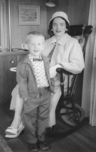Clark Fair has not found himself well suited to wearing suits, despite his mother's attempts ( (seen here in 1961).