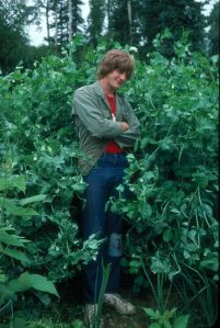 Or here picking peas in 1979.